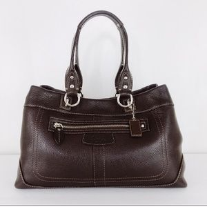 Coach NWOT Penelope Pebbled Leather Tote Brown